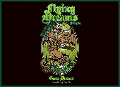 Green Dreams Pale Ale Logo Flying Dreams Brewing