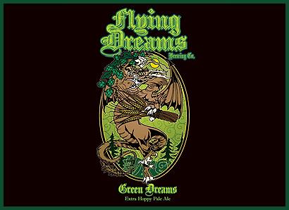 Green Dreams Pale Ale Logo Flying Dreams Brewing